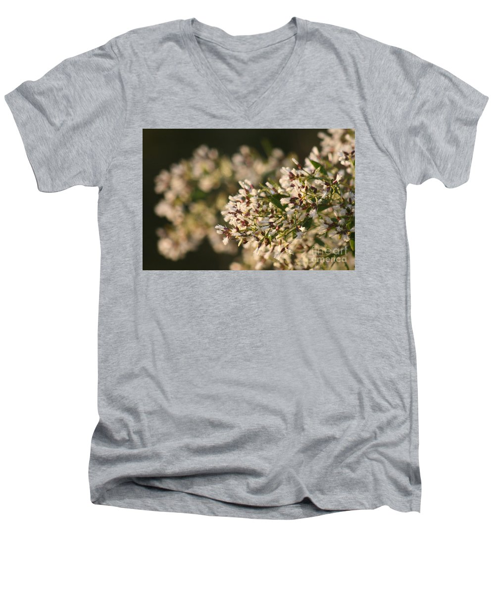 White Men's V-Neck T-Shirt featuring the photograph White Flowers by Nadine Rippelmeyer