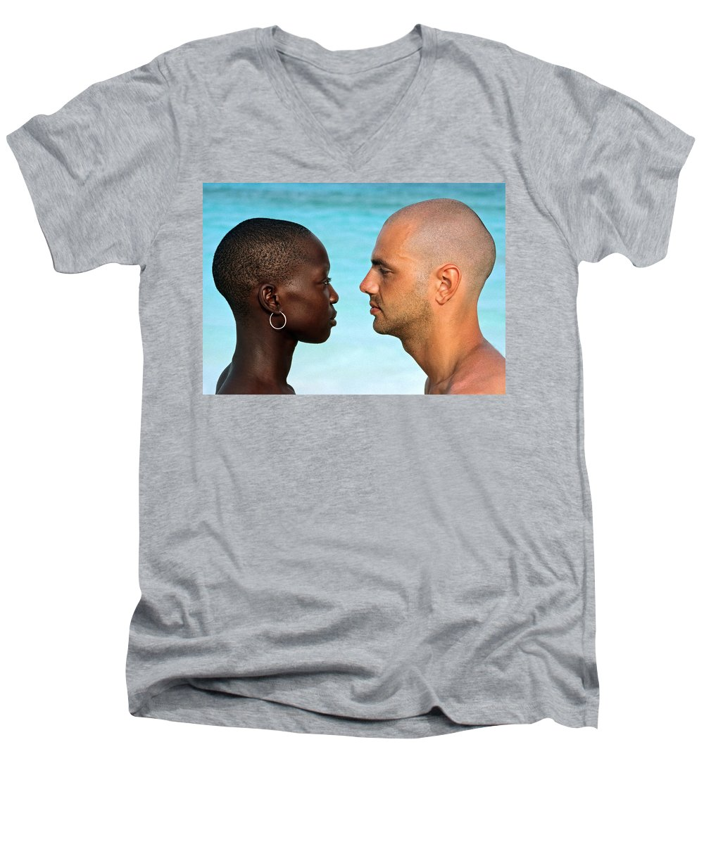 Man Men's V-Neck T-Shirt featuring the photograph Yin Yang by Skip Hunt