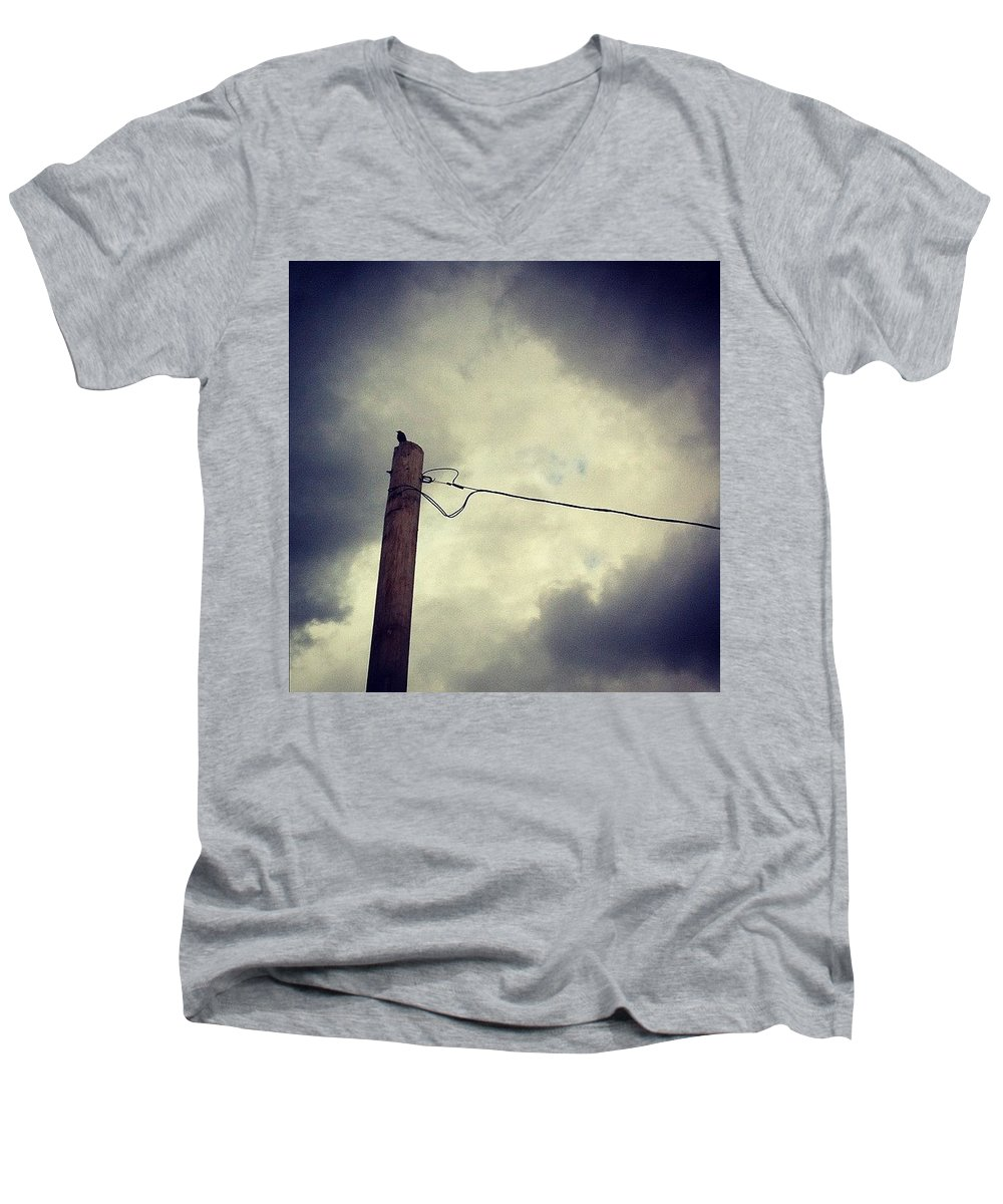 Storm Men's V-Neck T-Shirt featuring the photograph #storm Watcher by Katie Cupcakes