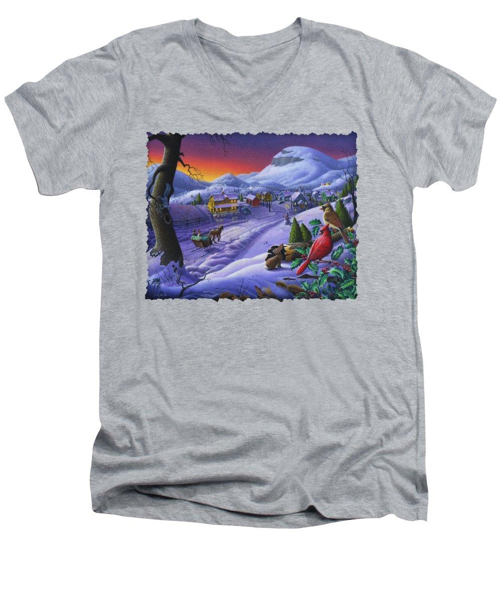 Cardinal V-Neck T-Shirts