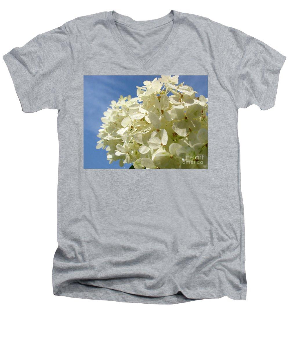 Hydranga Men's V-Neck T-Shirt featuring the photograph Hydrangea by Amanda Barcon