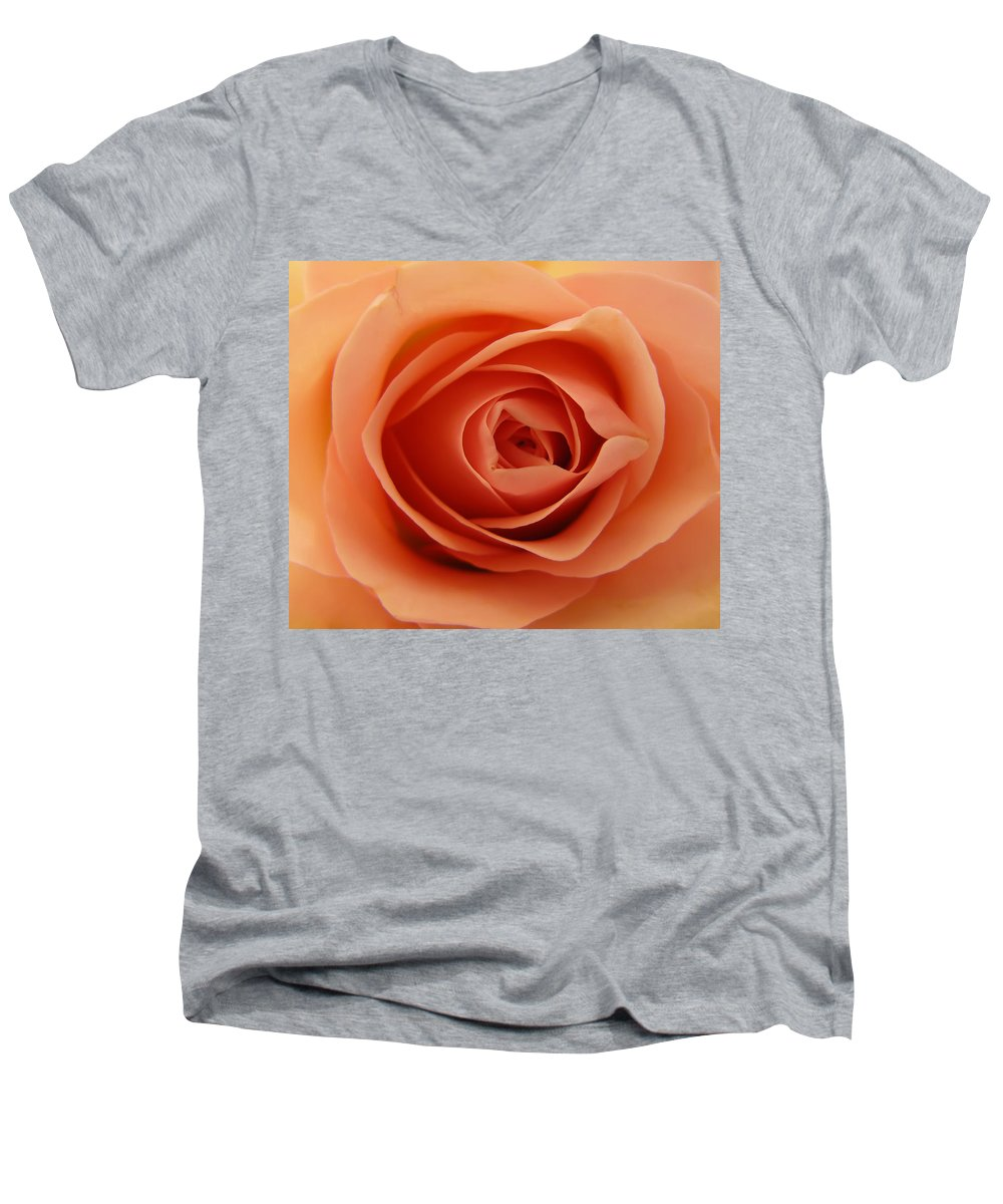 Rose Men's V-Neck T-Shirt featuring the photograph Rose by Daniel Csoka