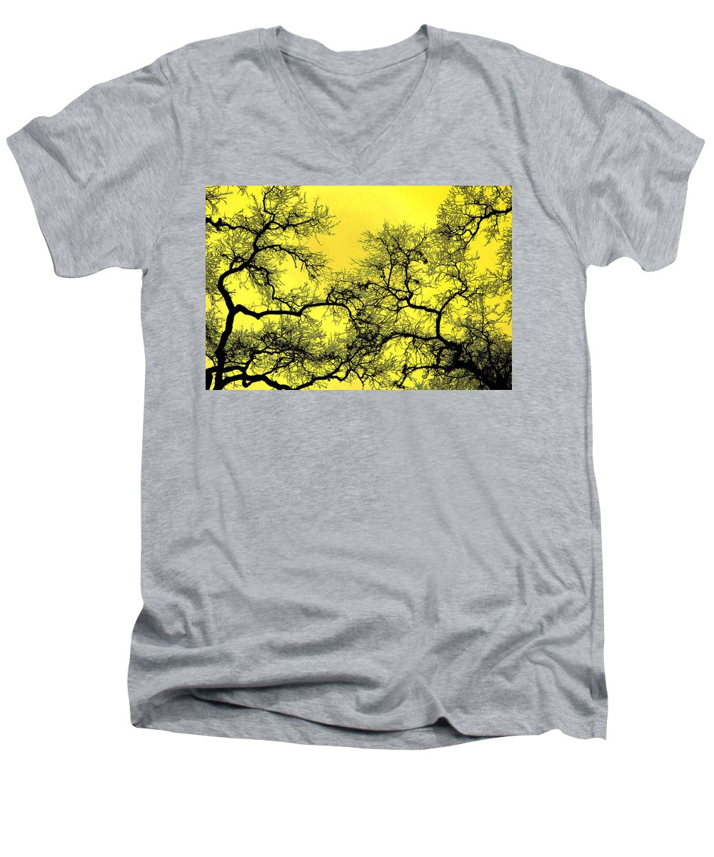 Digital Art Men's V-Neck T-Shirt featuring the photograph Tree Fantasy 18 by Lee Santa