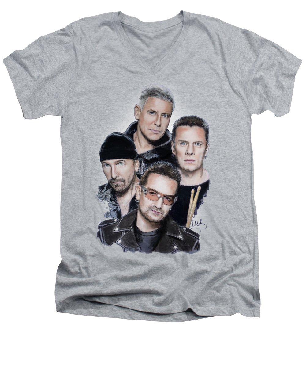 U2 V-Neck T-Shirts
