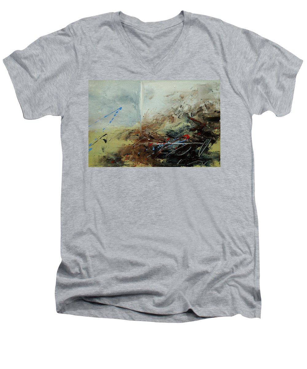 Abstract Men's V-Neck T-Shirt featuring the print Abstract 070408 by Pol Ledent