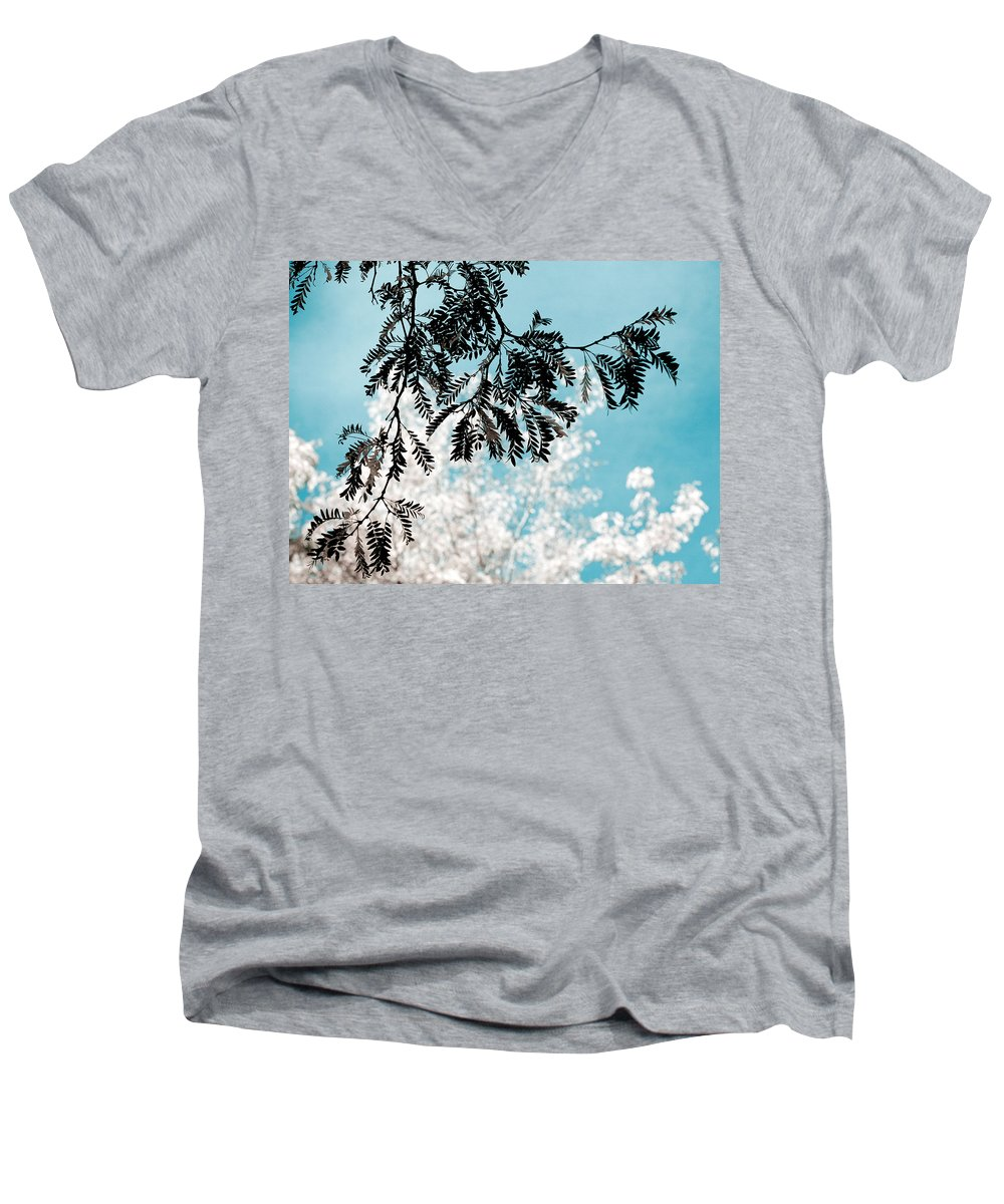 Tree Men's V-Neck T-Shirt featuring the photograph Abstract Locust by Marilyn Hunt