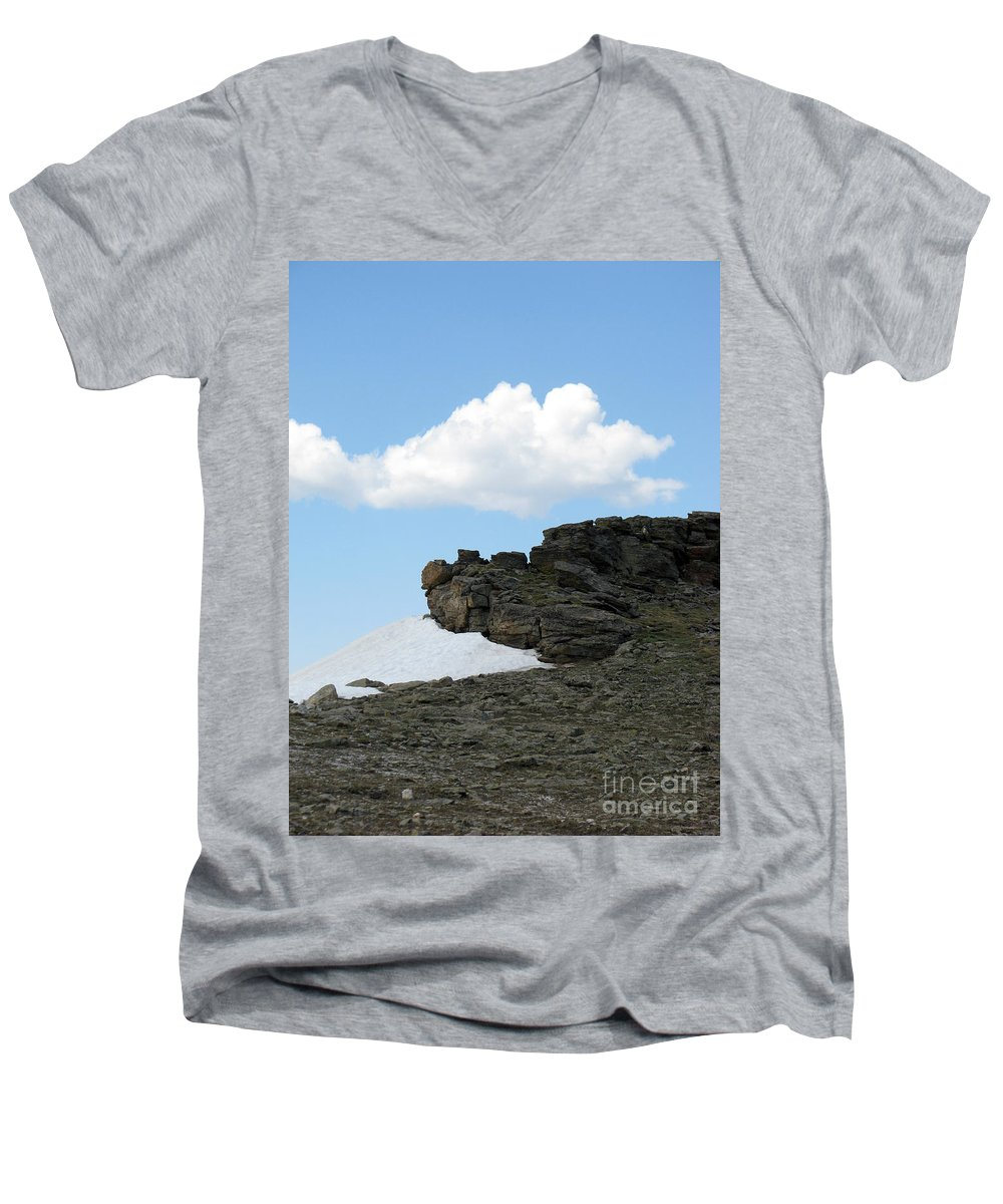 Rocky Mountains Men's V-Neck T-Shirt featuring the photograph Alpine Tundra - Up In The Clouds by Amanda Barcon