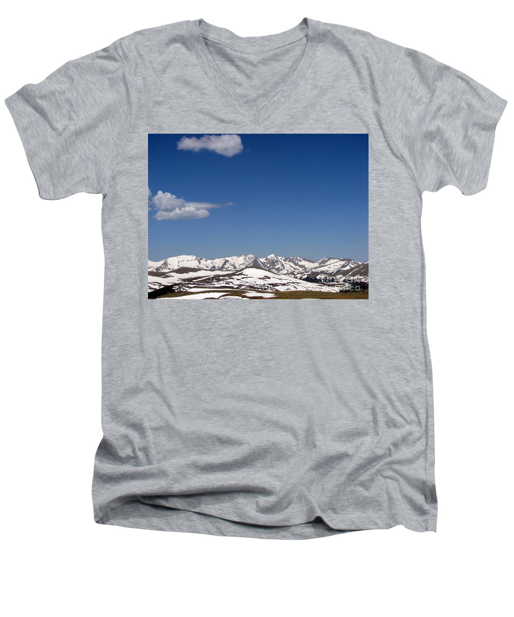 Mountains Men's V-Neck T-Shirt featuring the photograph Alpine Tundra Series by Amanda Barcon
