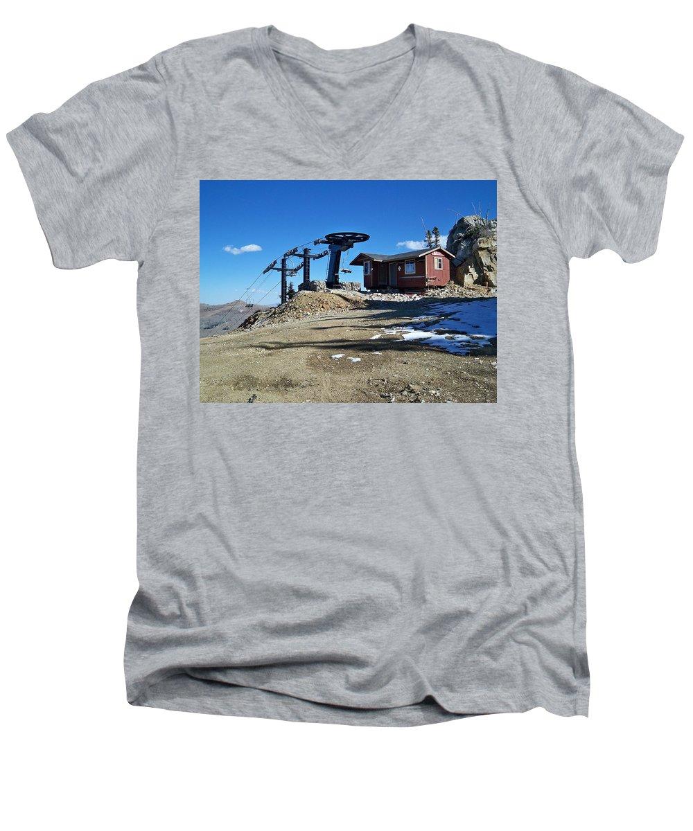 Landscape Men's V-Neck T-Shirt featuring the photograph Anticipation by Michael Cuozzo