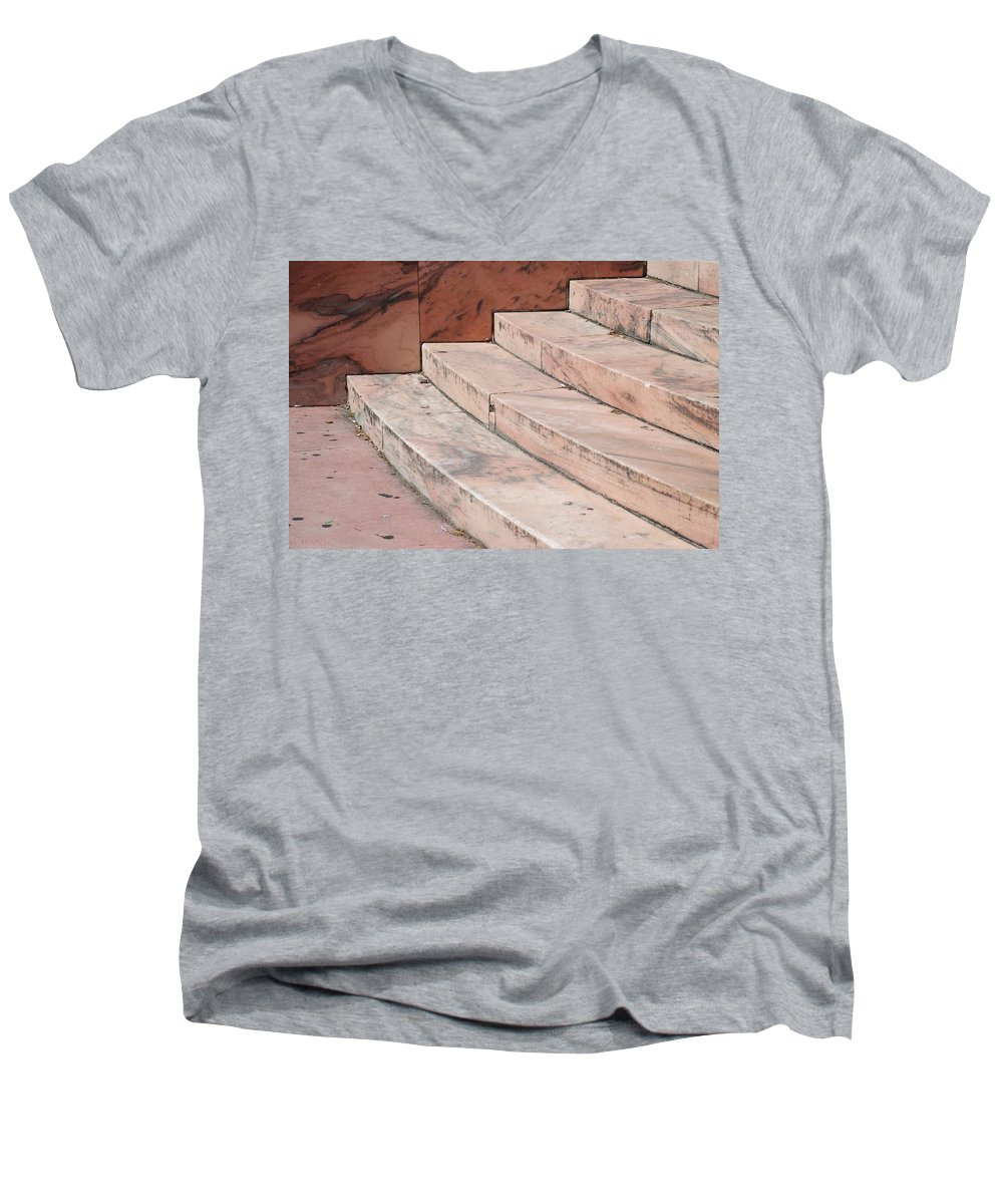 Architecture Men's V-Neck T-Shirt featuring the photograph Art Deco Steps by Rob Hans