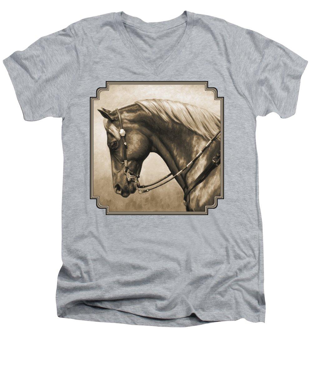 Horse V-Neck T-Shirts