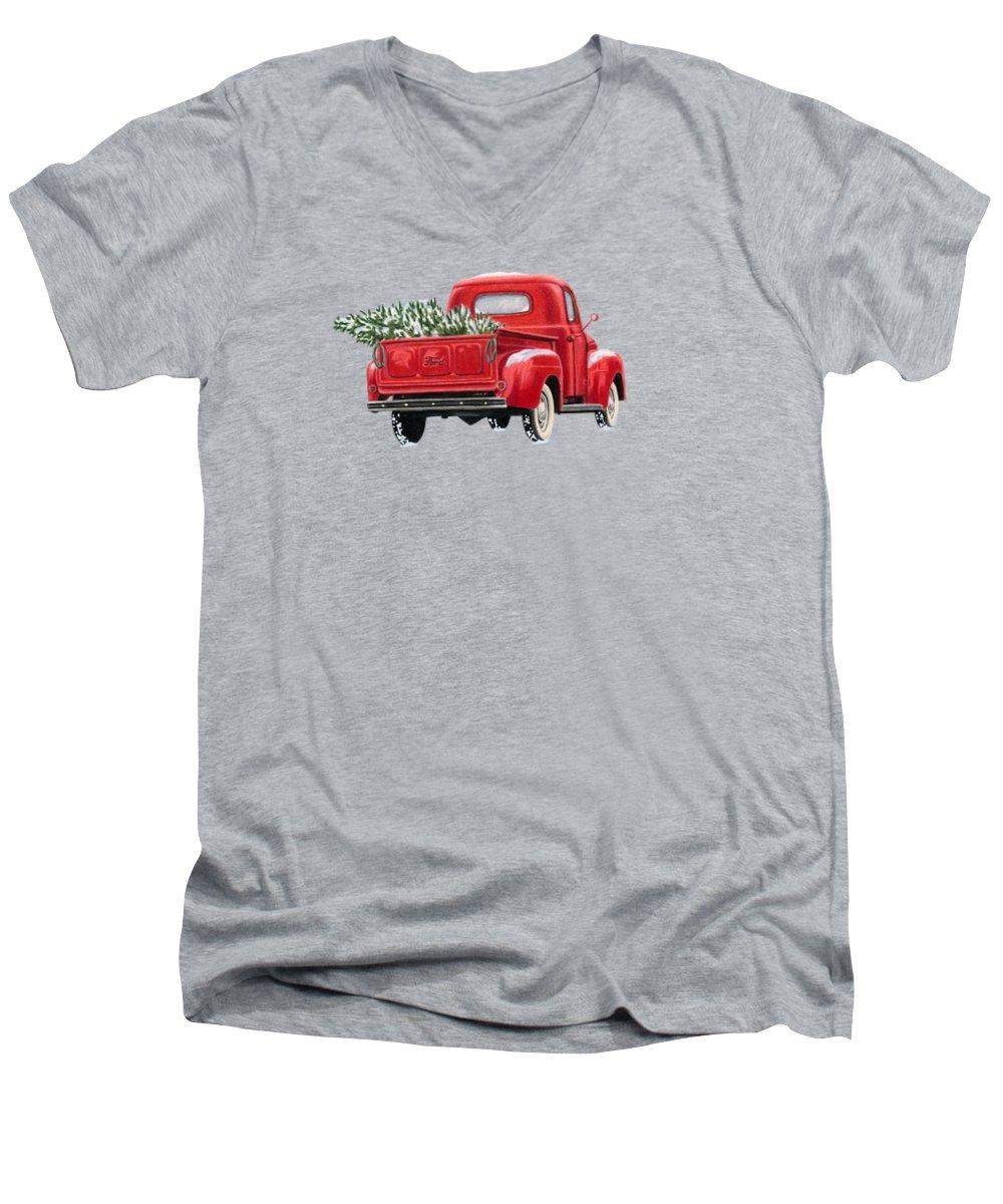 Truck V-Neck T-Shirts
