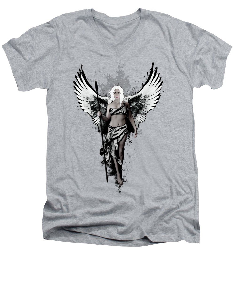 Swan V-Neck T-Shirts