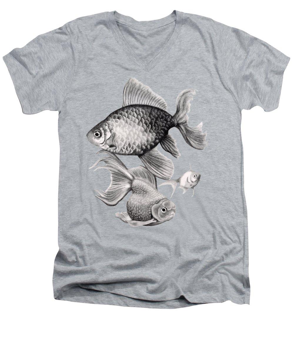 Koi V-Neck T-Shirts