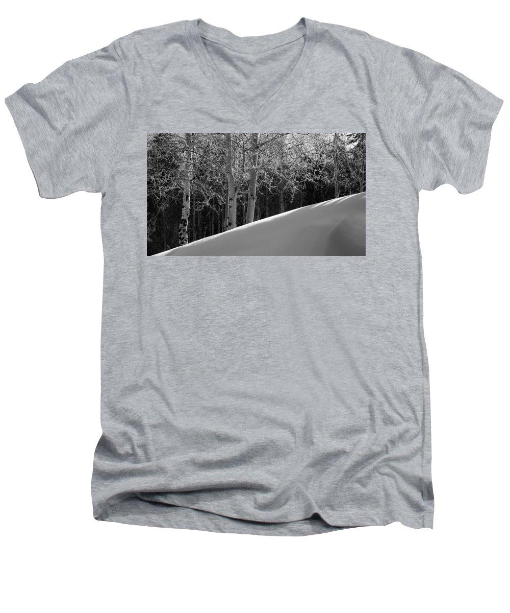 Colorado Men's V-Neck T-Shirt featuring the photograph Aspencade by Skip Hunt