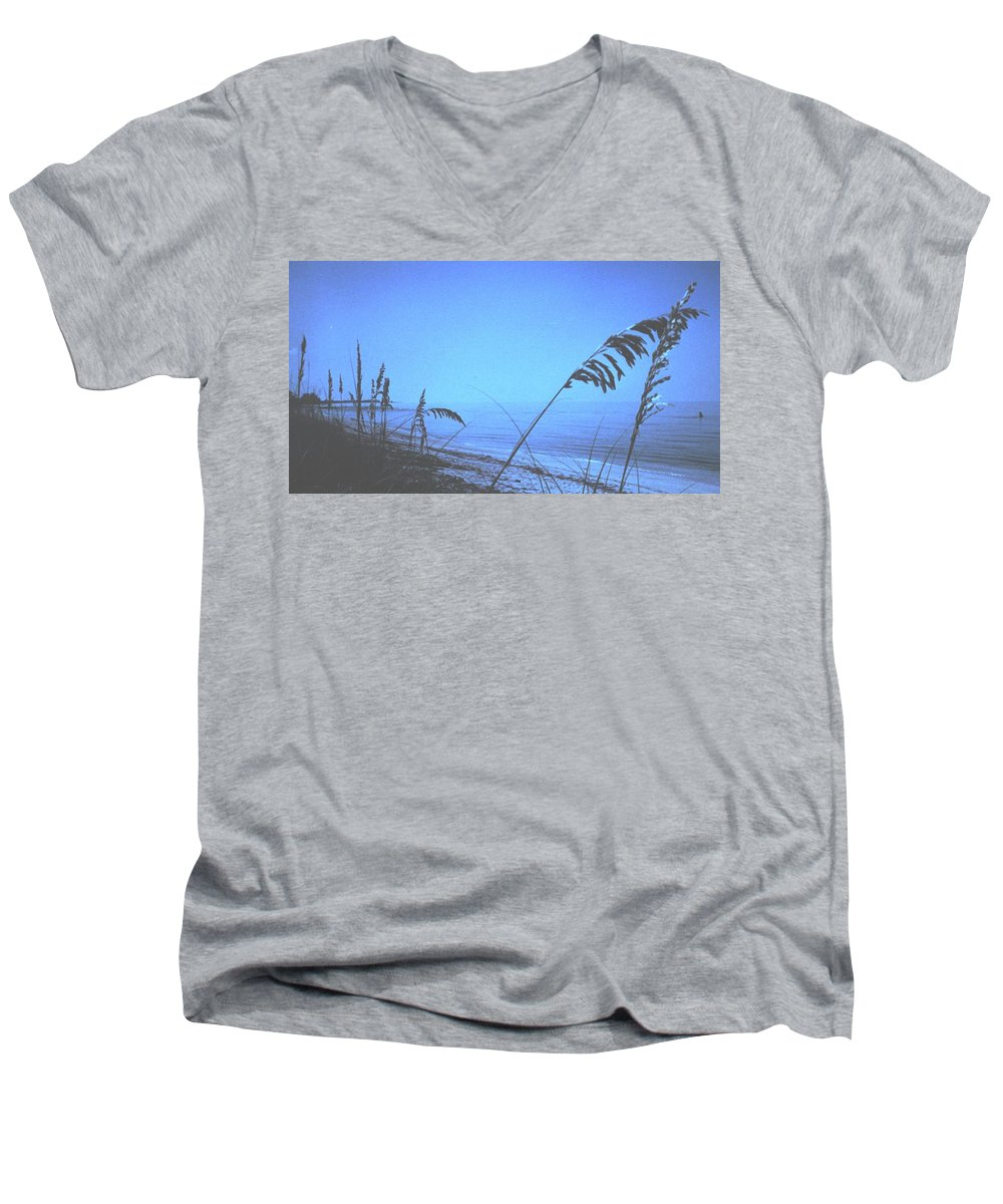 Men's V-Neck T-Shirt featuring the photograph Bahama Blue by Ian MacDonald