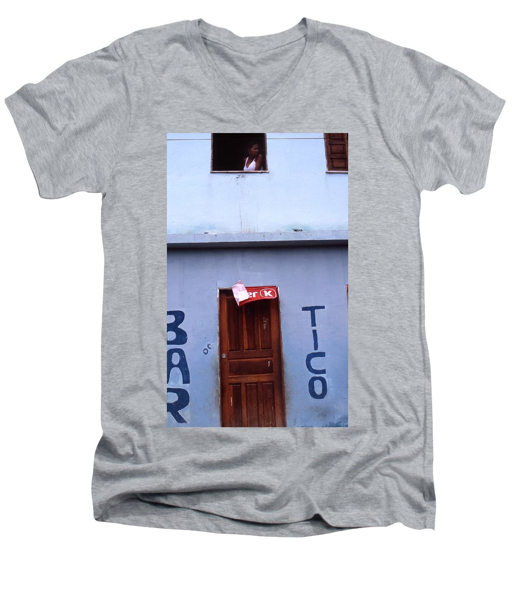 Lencois Men's V-Neck T-Shirt featuring the photograph Bar Tico by Patrick Klauss