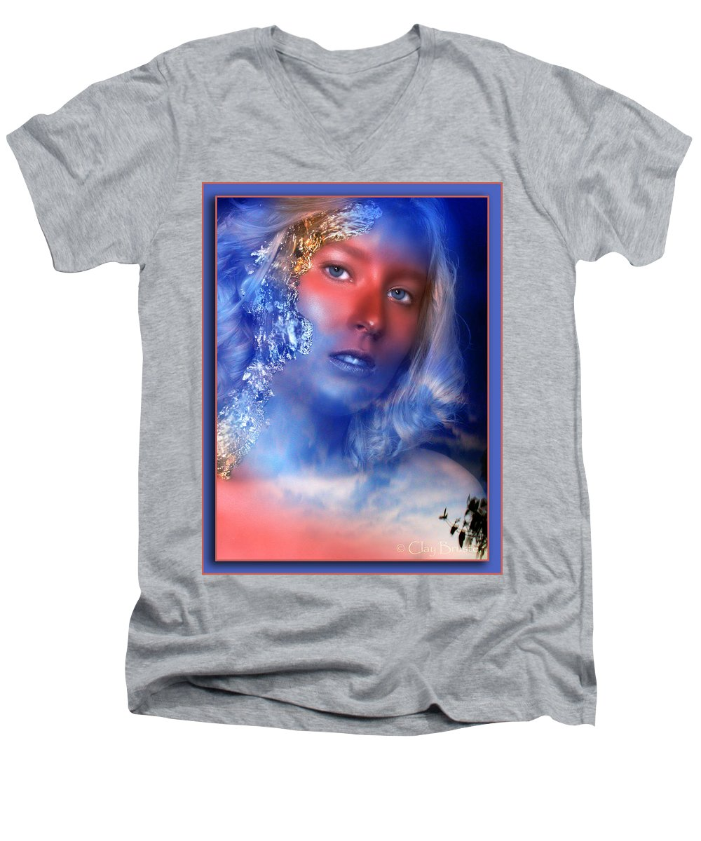 Clay Men's V-Neck T-Shirt featuring the photograph Beauty In The Clouds by Clayton Bruster