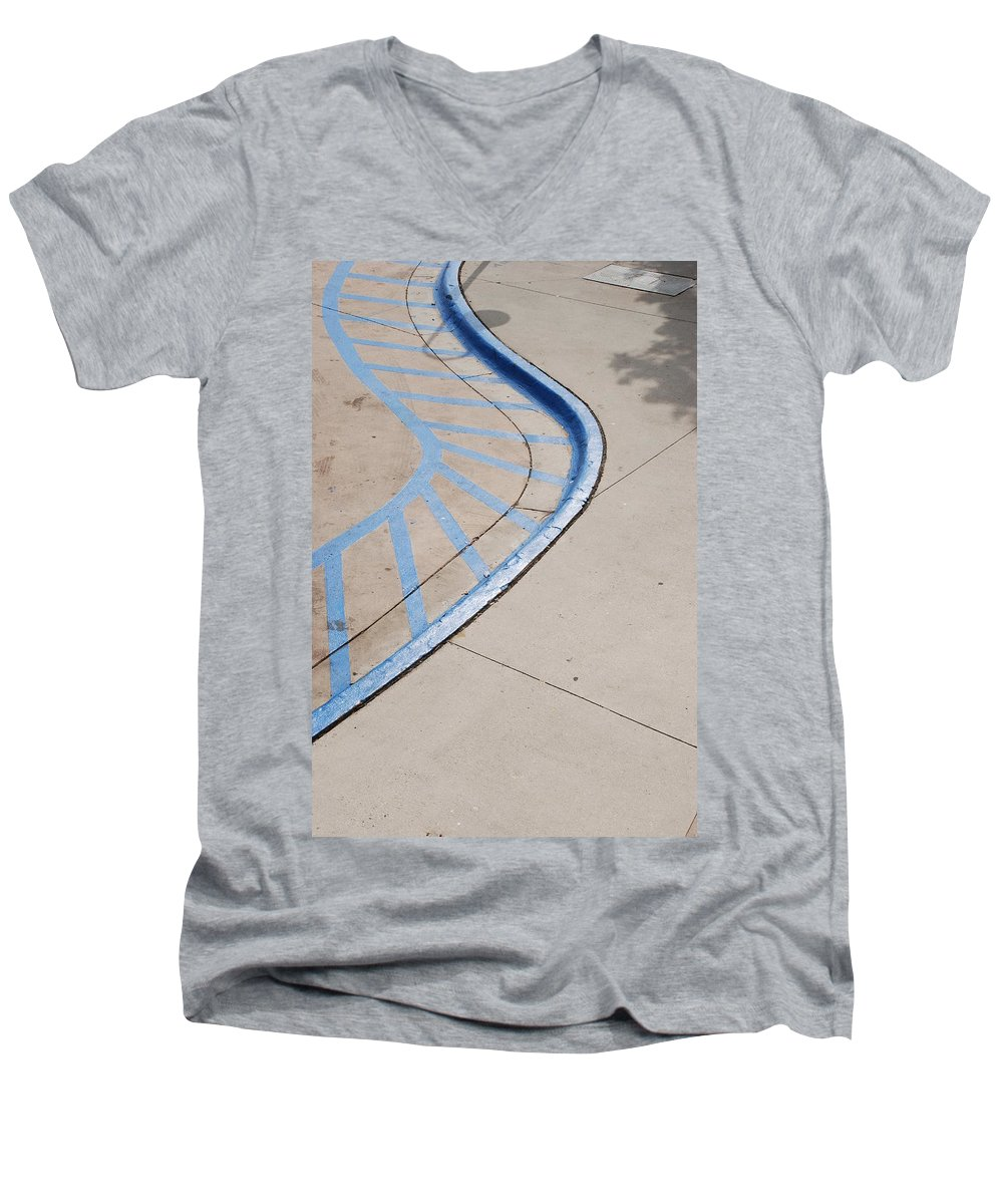 Blue Men's V-Neck T-Shirt featuring the photograph Blue Zone by Rob Hans