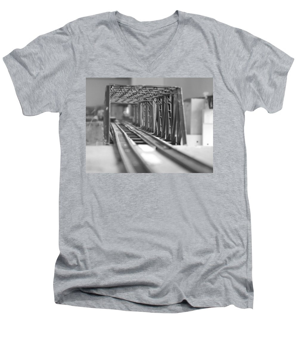 Models Men's V-Neck T-Shirt featuring the photograph Bridge To Jerry Town by Margaret Fortunato