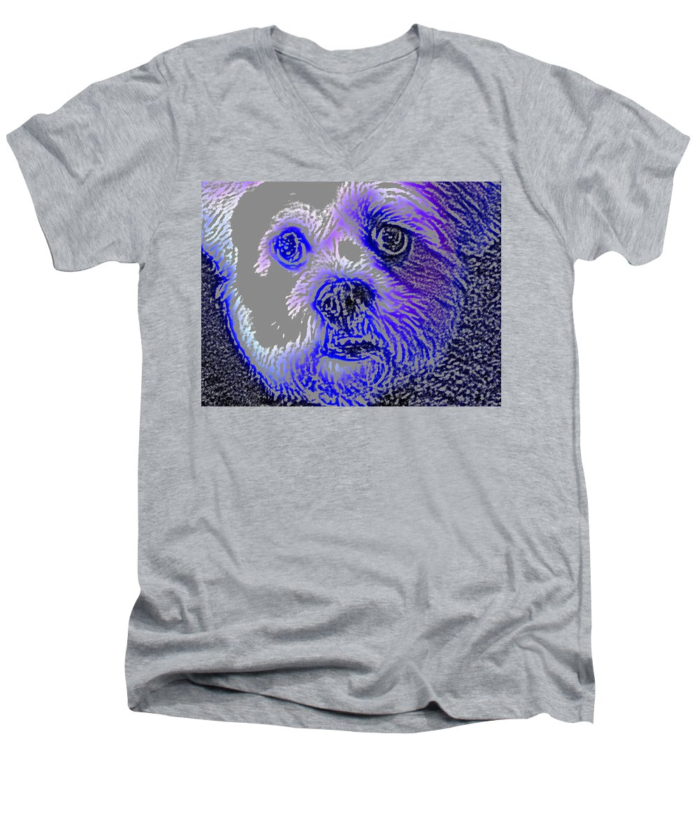 Dog Men's V-Neck T-Shirt featuring the photograph Buster Photo by Wayne Potrafka