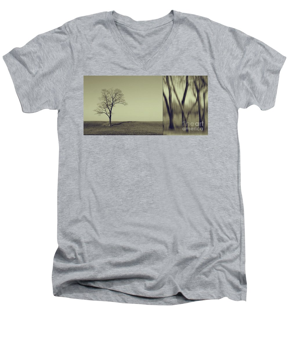Chicago Men's V-Neck T-Shirt featuring the photograph Can You Hear My Silent Words Whispering Along The Wind by Dana DiPasquale