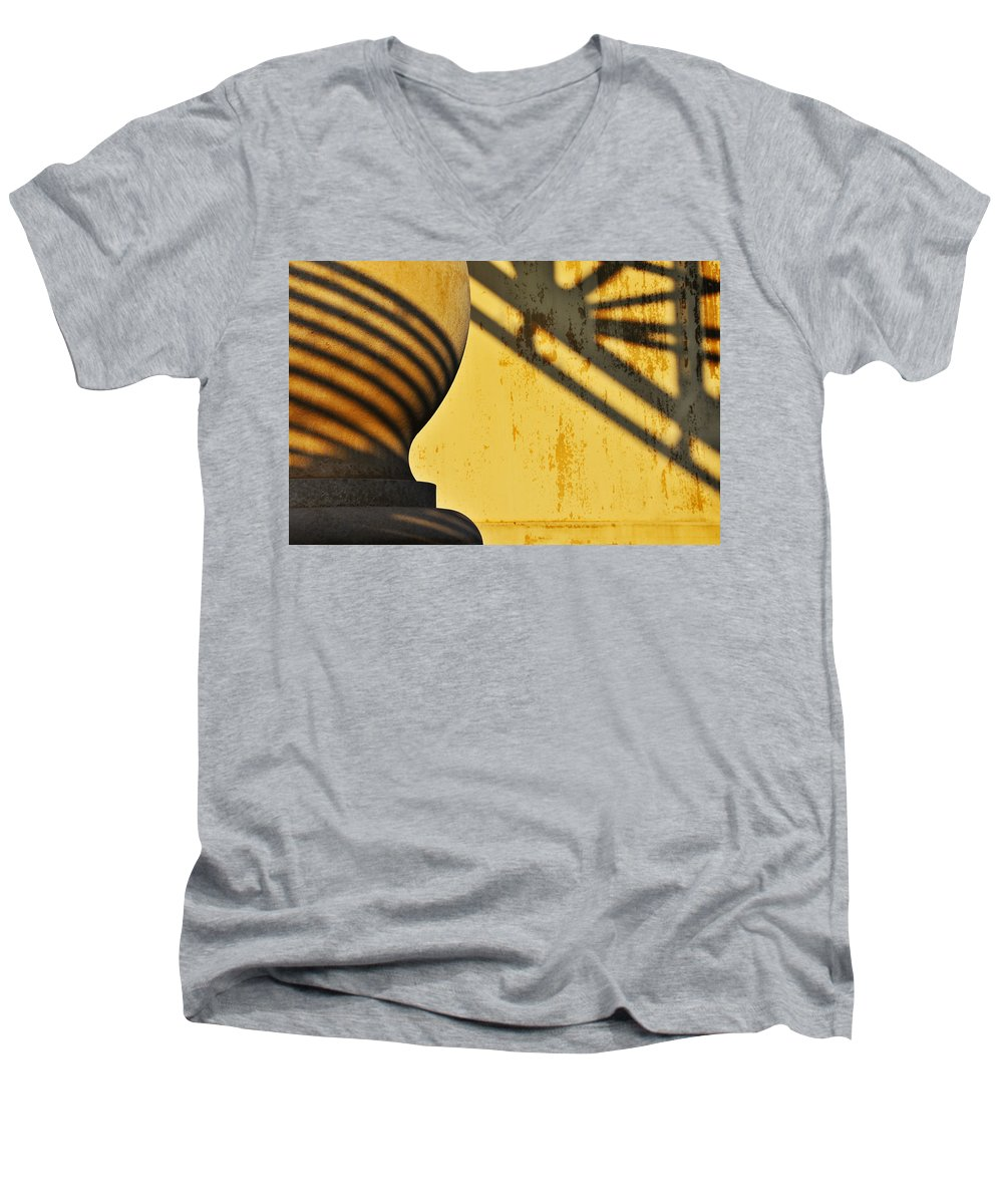 Architecture Men's V-Neck T-Shirt featuring the photograph Comb Over by Skip Hunt
