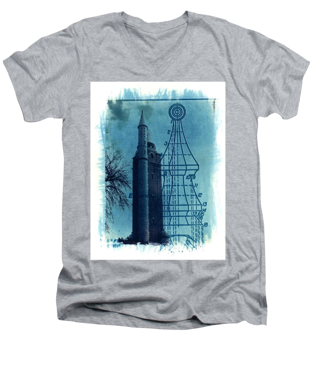 Alternative Process Photography Men's V-Neck T-Shirt featuring the photograph Compton Blueprint by Jane Linders