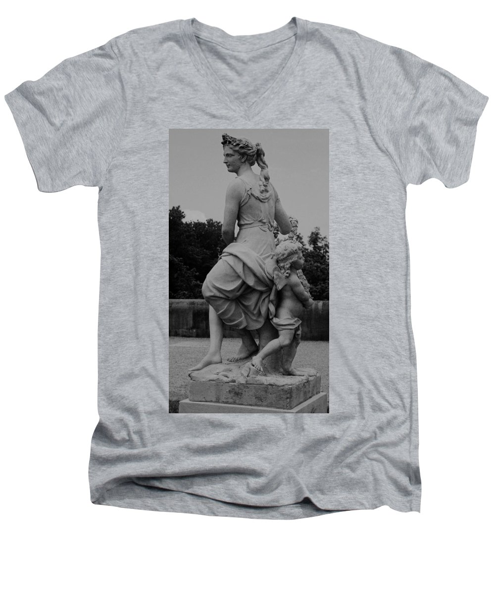Figurative Men's V-Neck T-Shirt featuring the painting Diana by Eric Schiabor
