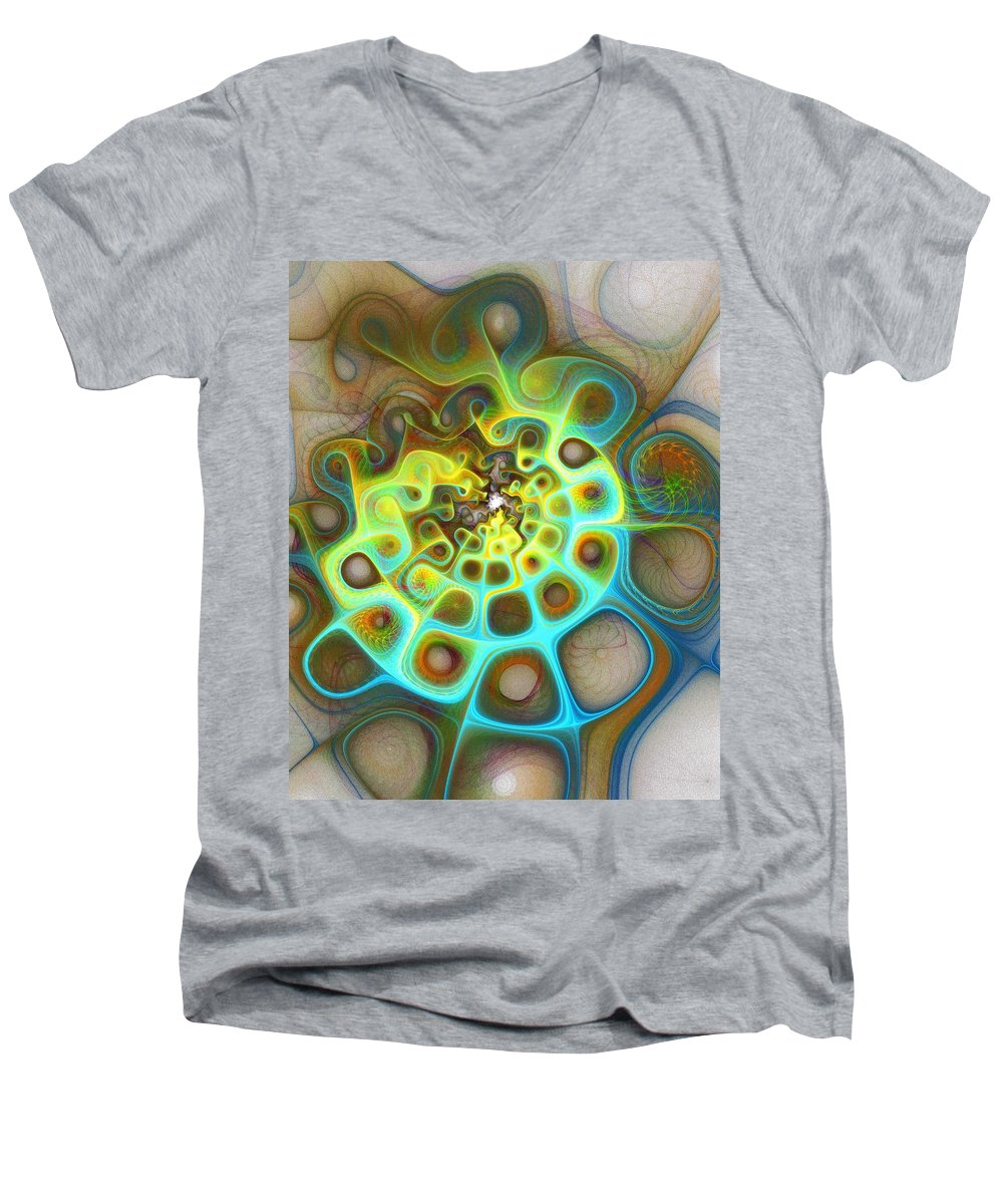 Digital Art Men's V-Neck T-Shirt featuring the digital art Dreamscapes by Amanda Moore
