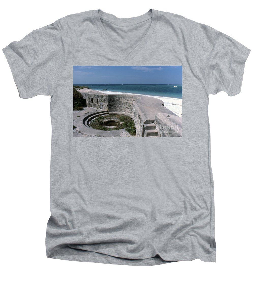 Beaches Men's V-Neck T-Shirt featuring the photograph Egmont Key by Richard Rizzo