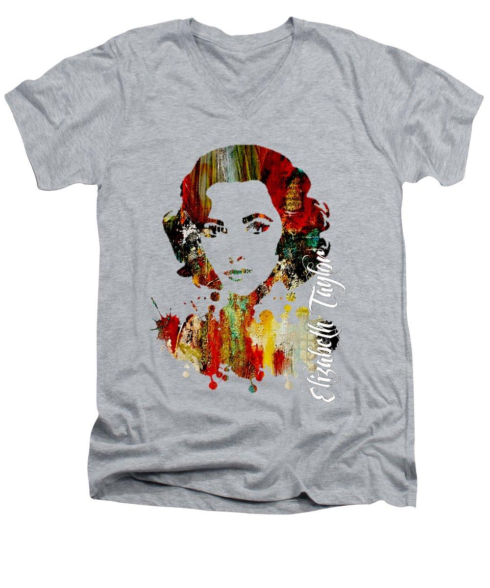 Elizabeth Taylor V-Neck T-Shirts