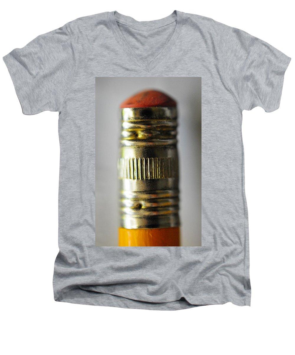 Skip Hunt Men's V-Neck T-Shirt featuring the photograph Eraserhead by Skip Hunt