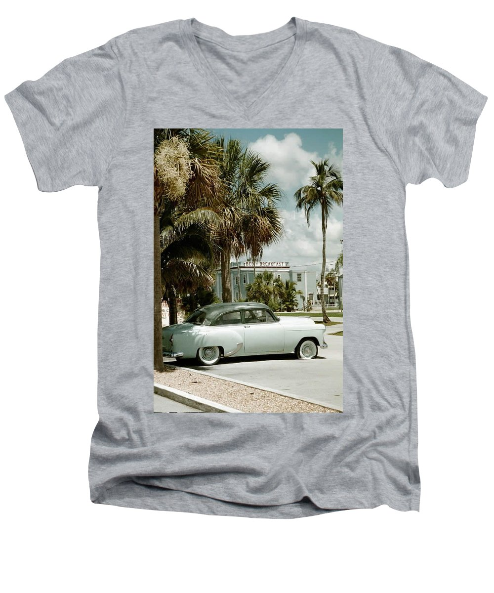 Everglade City Men's V-Neck T-Shirt featuring the photograph Everglade City I by Flavia Westerwelle