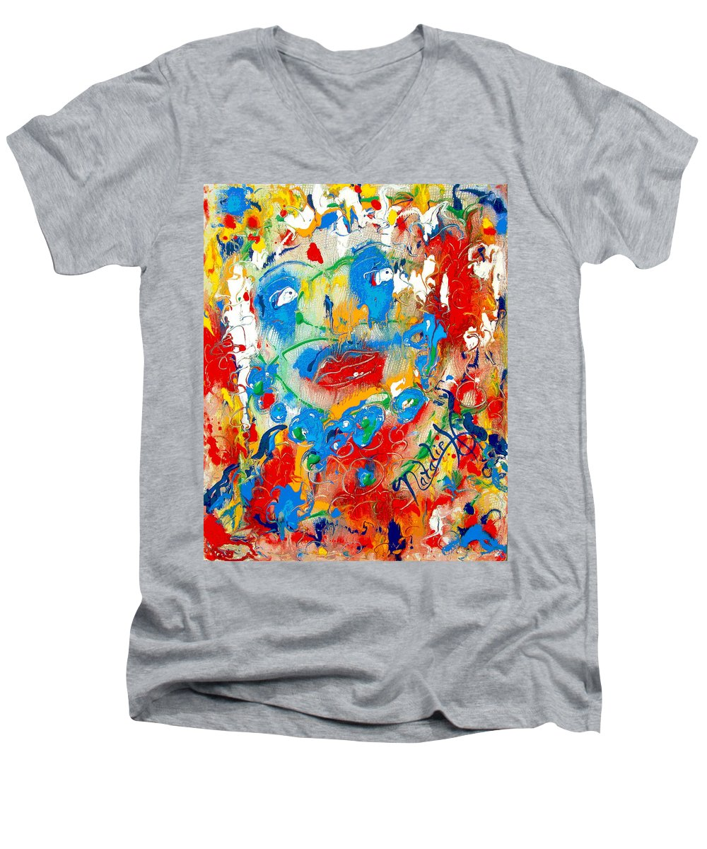 Woman Men's V-Neck T-Shirt featuring the painting Fantasia by Natalie Holland