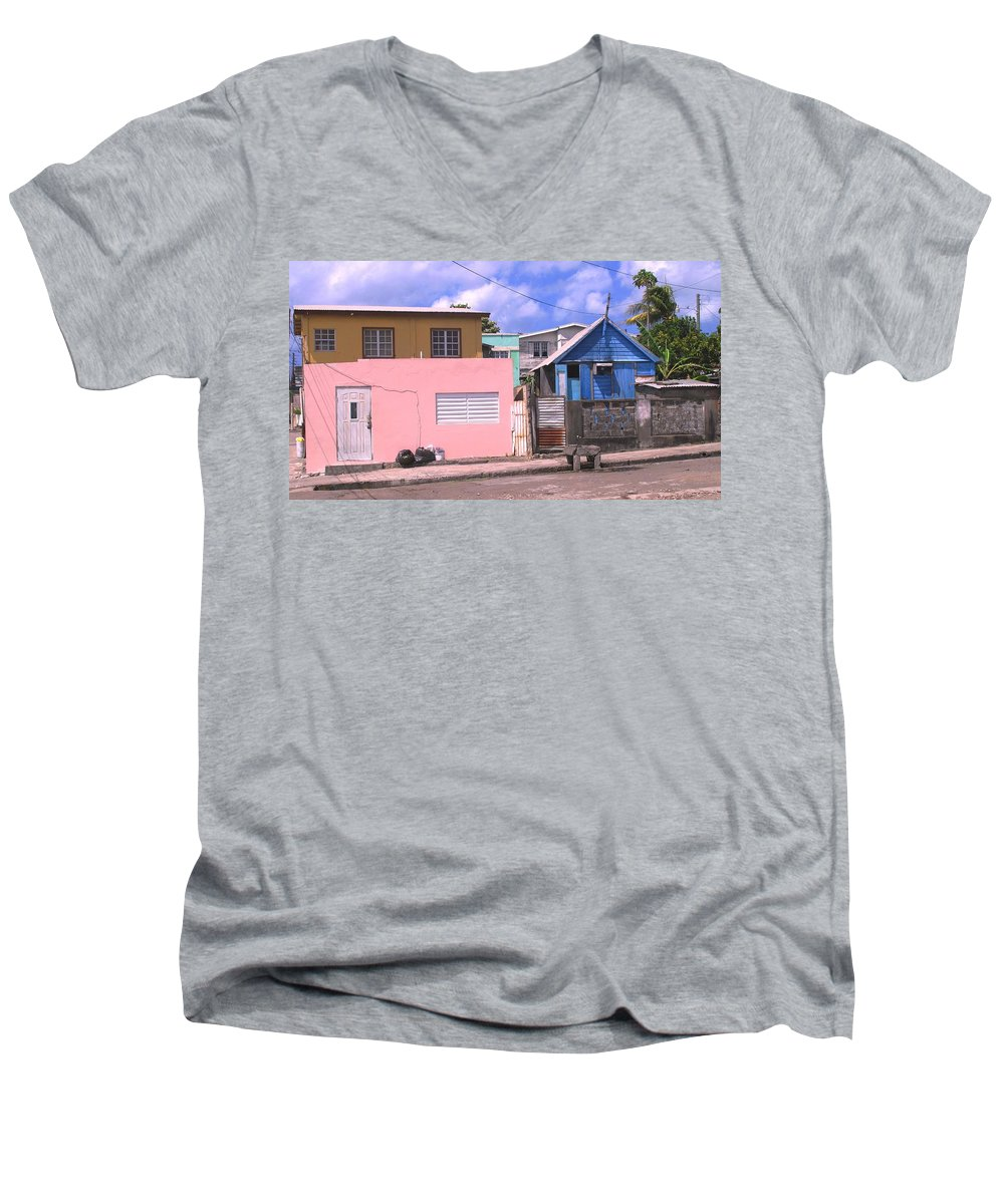Basseterre Men's V-Neck T-Shirt featuring the photograph Far From Dull by Ian MacDonald