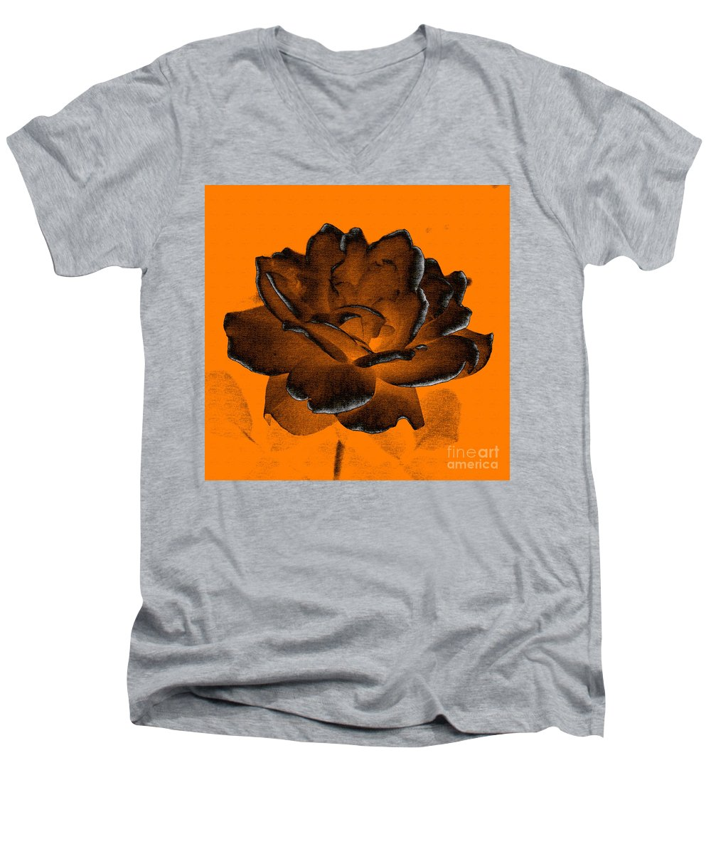 Rose Men's V-Neck T-Shirt featuring the photograph Forced Into Shape by Amanda Barcon