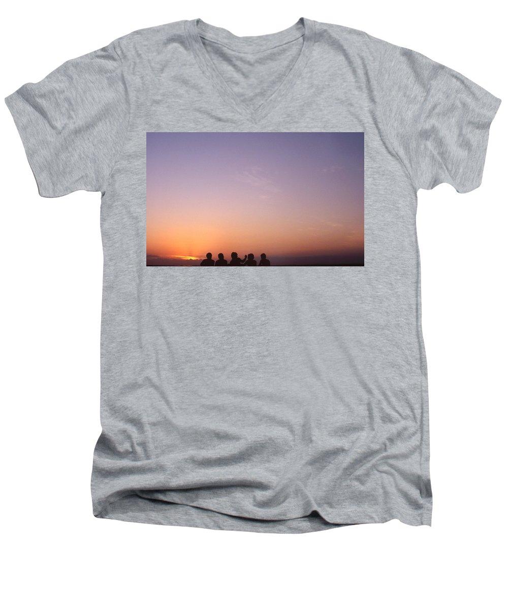 Bahia Men's V-Neck T-Shirt featuring the photograph Friends by Patrick Klauss