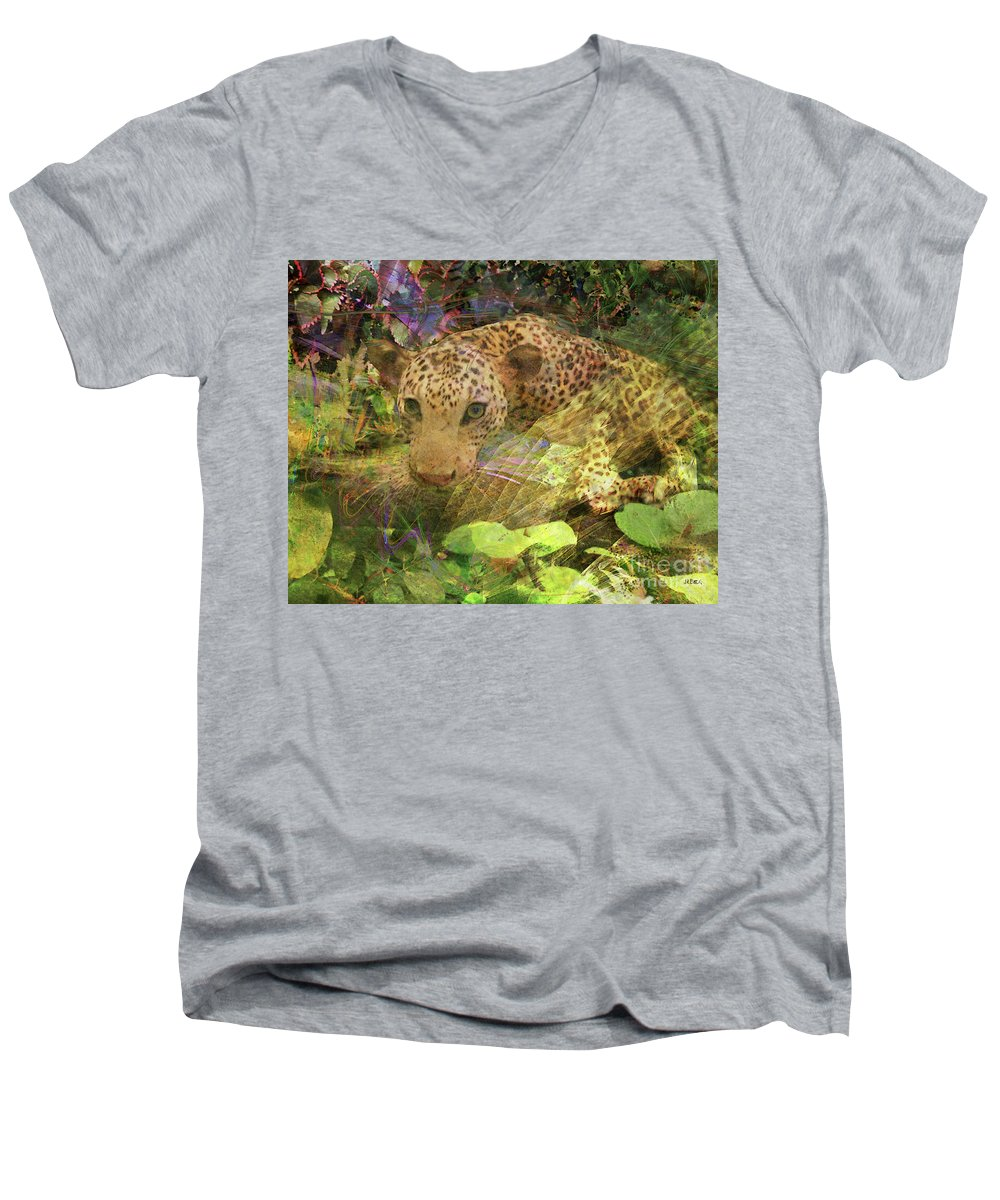 Game Spotting Men's V-Neck T-Shirt featuring the digital art Game Spotting by John Beck