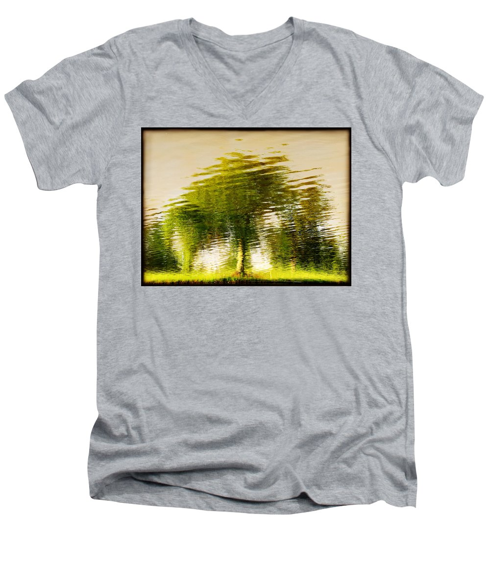 Abstract Men's V-Neck T-Shirt featuring the photograph Gentle Sun by Dana DiPasquale