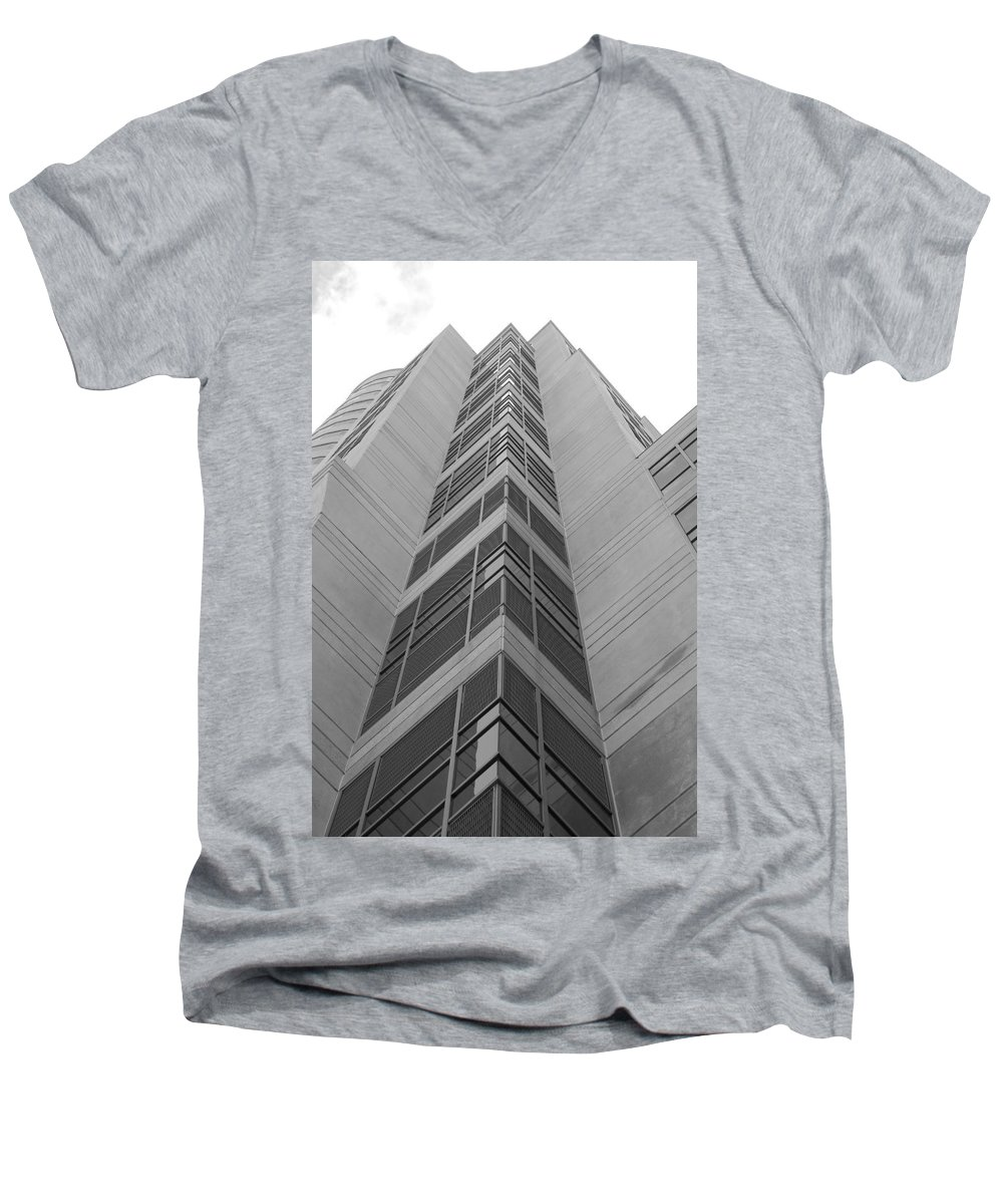 Architecture Men's V-Neck T-Shirt featuring the photograph Glass Tower by Rob Hans