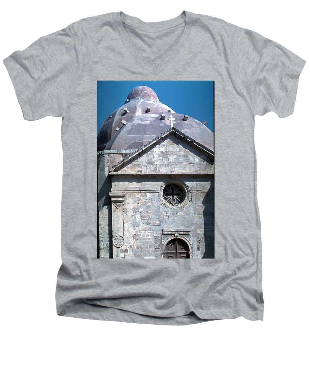Greek Orthodox Church Men's V-Neck T-Shirt featuring the photograph Greek Orthodox Church by Flavia Westerwelle
