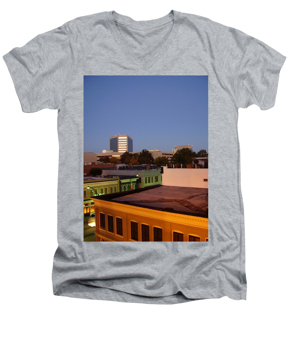 Greenville Men's V-Neck T-Shirt featuring the photograph Greenville by Flavia Westerwelle