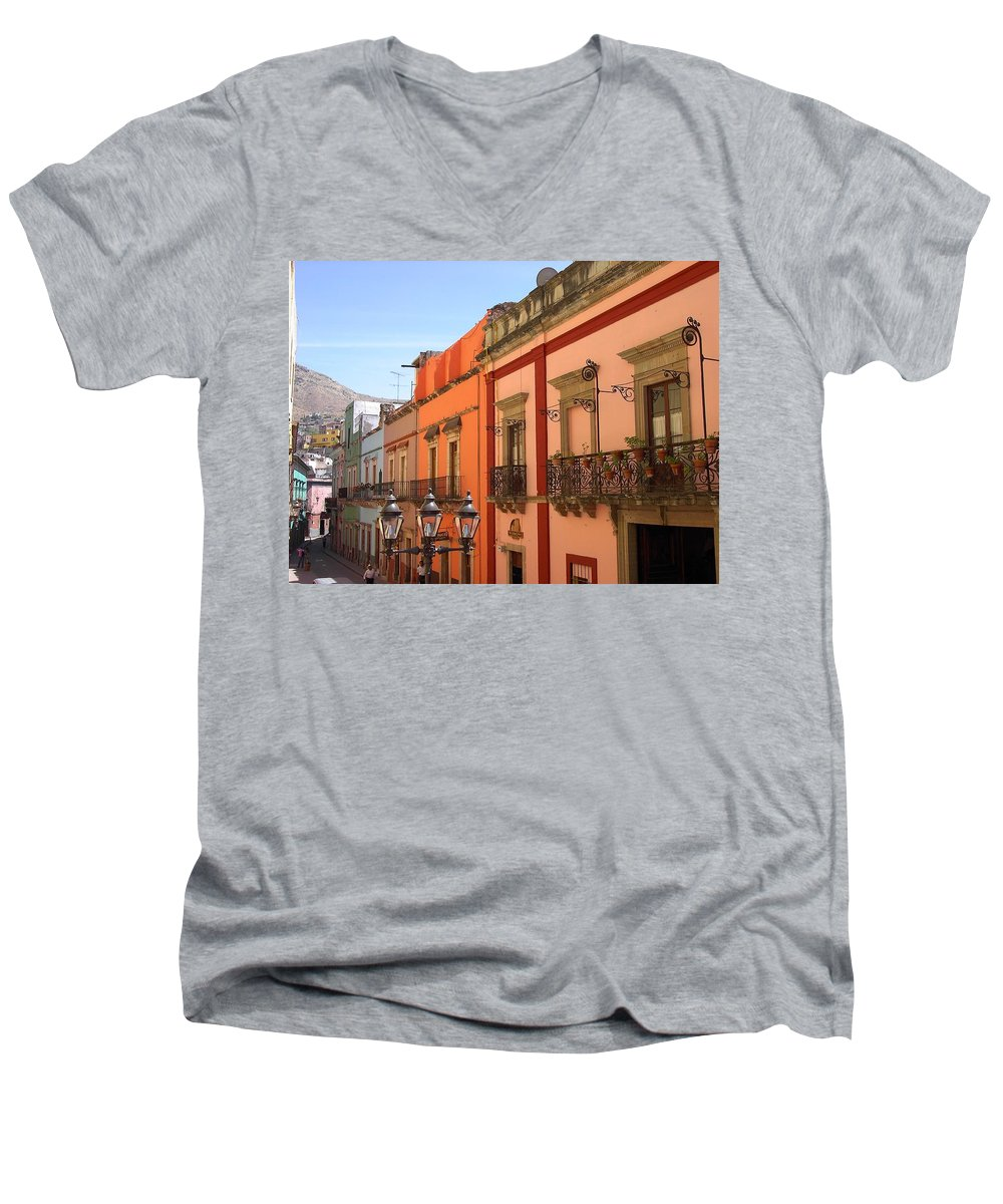 Charity Men's V-Neck T-Shirt featuring the photograph Guanajuato by Mary-Lee Sanders