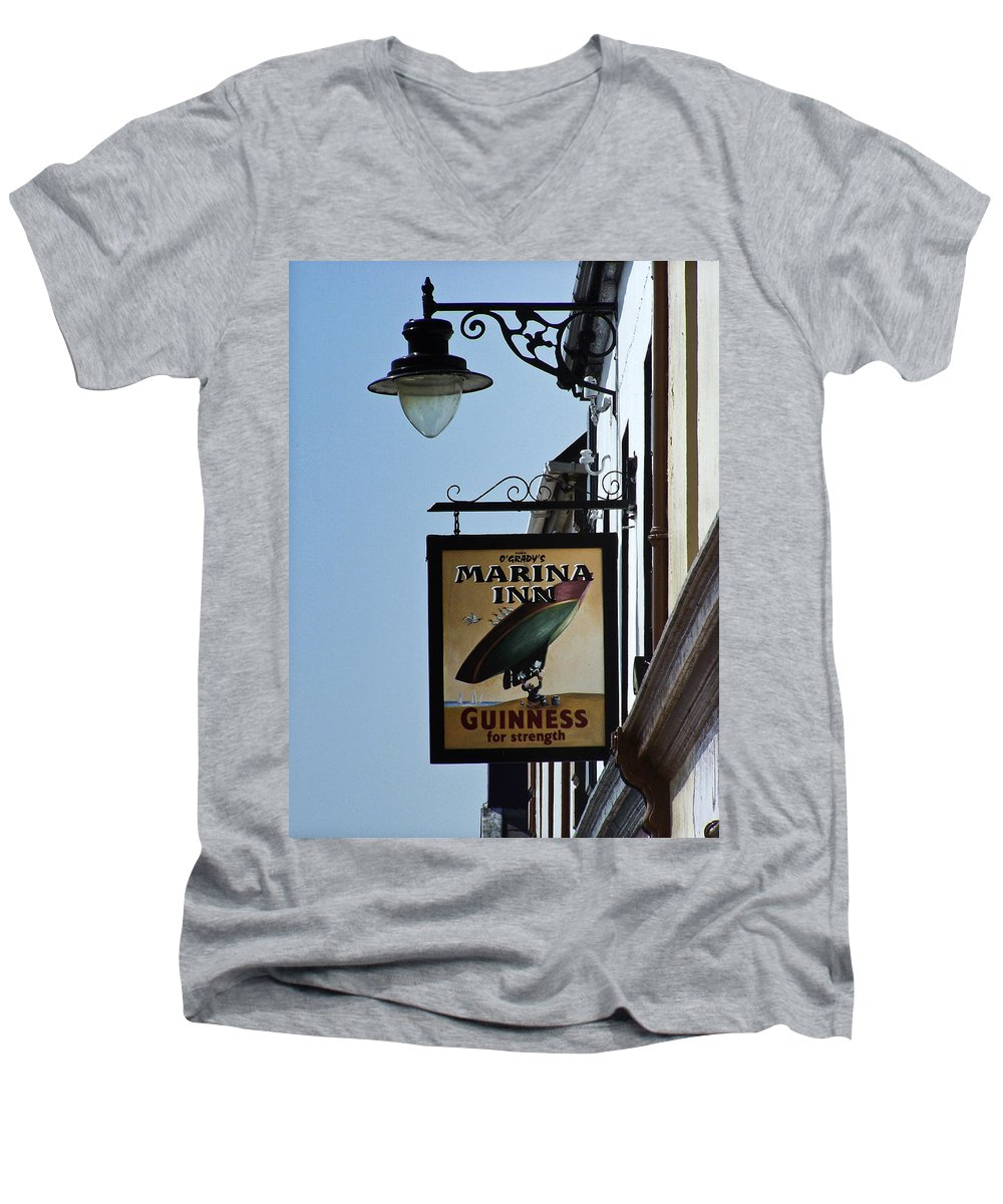 Irish Men's V-Neck T-Shirt featuring the photograph Guinness For Strength Dingle Ireland by Teresa Mucha