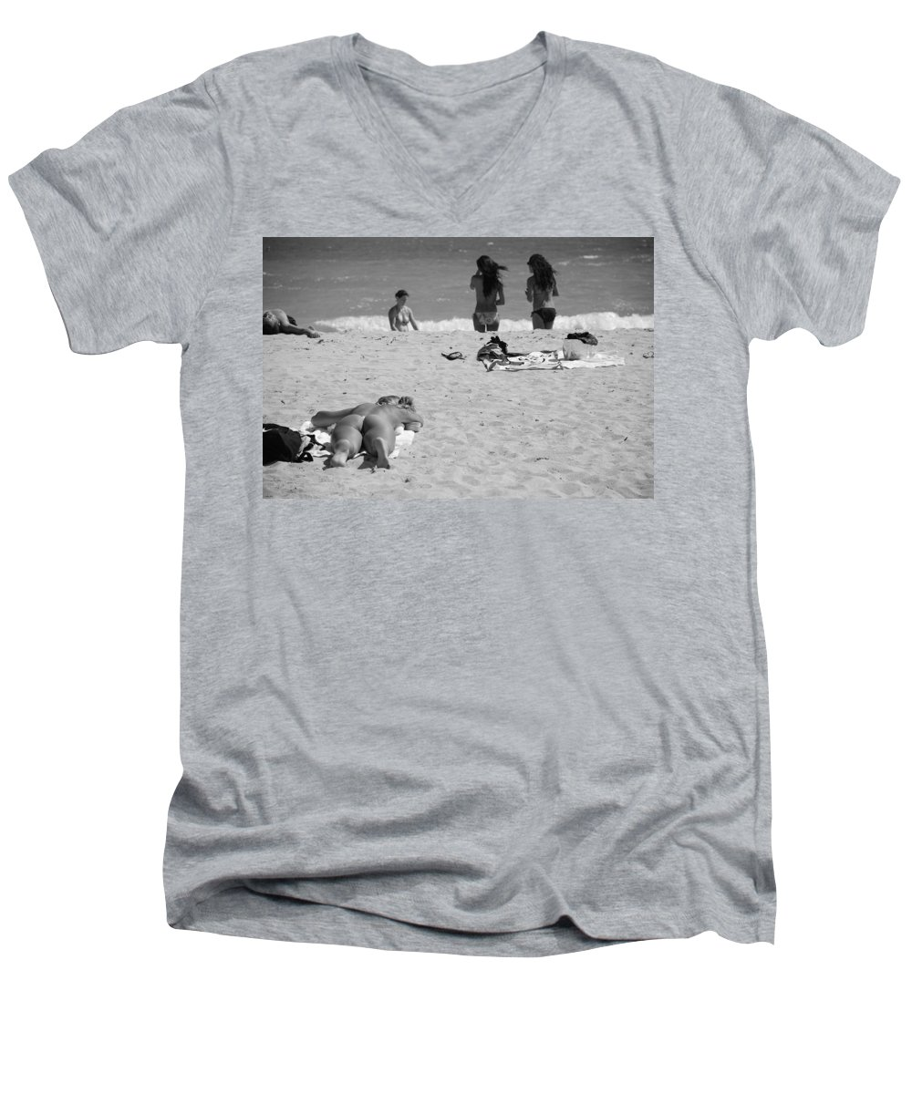 Miami Men's V-Neck T-Shirt featuring the photograph Half Dead Half Alive by Rob Hans