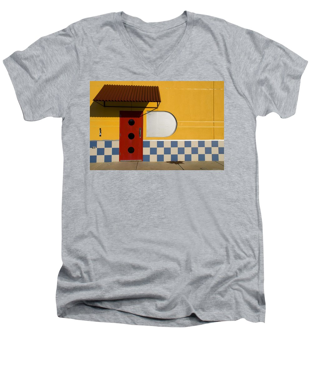 Architecture Men's V-Neck T-Shirt featuring the photograph Happy Days by Skip Hunt