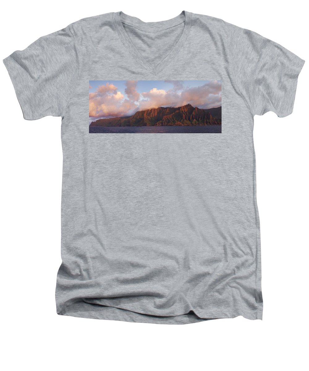 Hawaii Men's V-Neck T-Shirt featuring the photograph Hawaii by Heather Coen