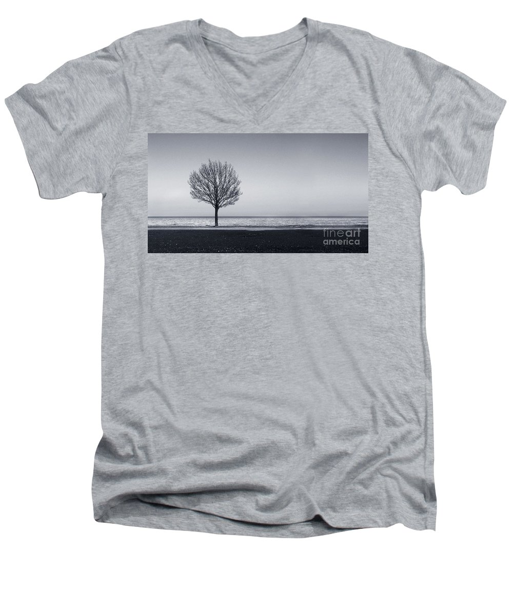 Tree Men's V-Neck T-Shirt featuring the photograph I Didnt Hear You Leaving by Dana DiPasquale