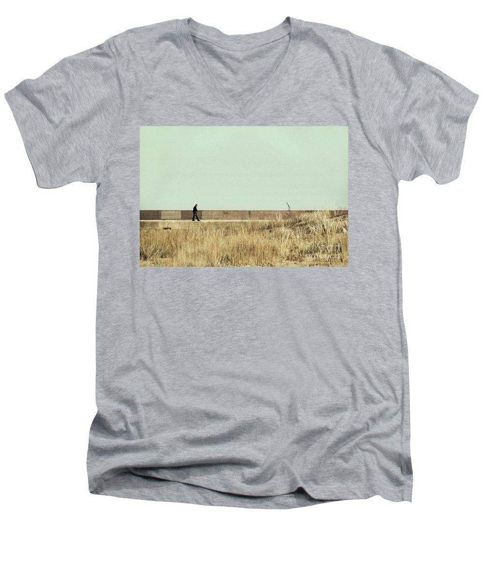 Dipasquale Men's V-Neck T-Shirt featuring the photograph I Remember What We Said by Dana DiPasquale